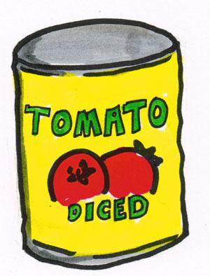 Sometimes I eat half of the tomatoes directly from the can. That is not part of the process